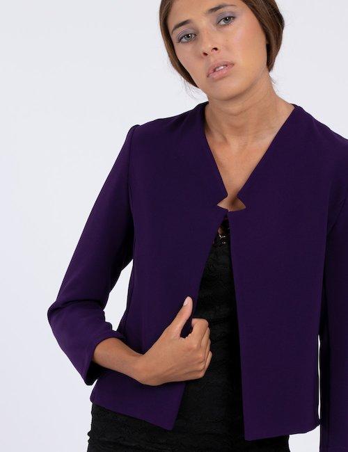 Blazer Vougue viola corto - Purple_Yellow