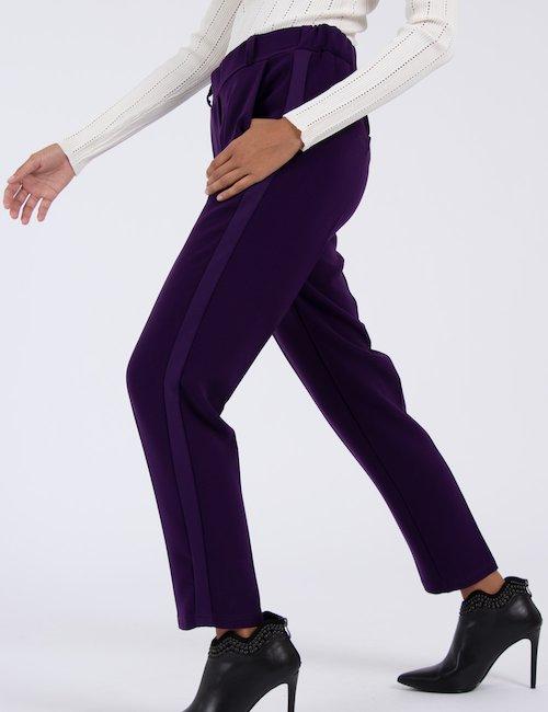 Pantalone dritto con tasche Cod art. CLELIA LIPS VI/VI f - Purple_Yellow