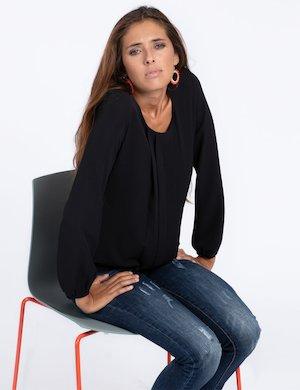 Camicia Vougue con plissè elegante