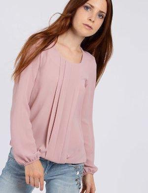 Blusa Vougue elegante con plissè
