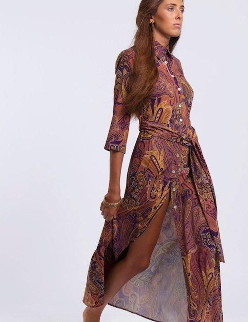 Vestito Vougue Tosca fantasia cachemire - Paisley