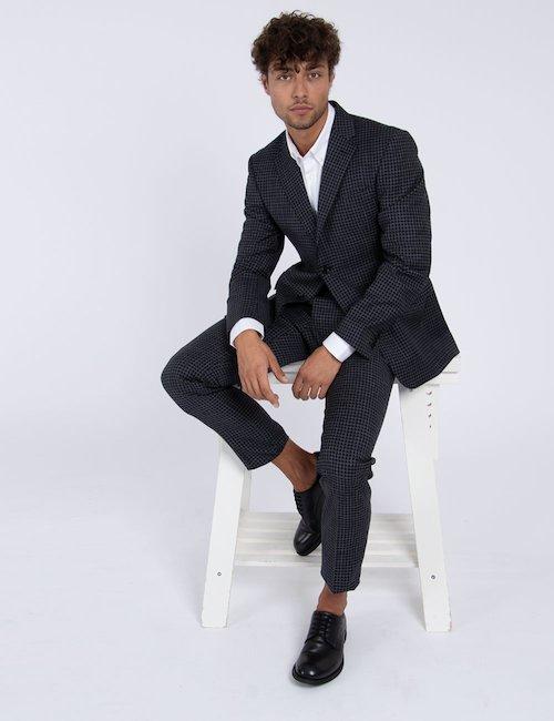 Abito elegante Pierre Balmain a quadretti - Black