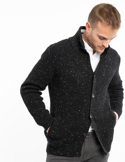 Cardigan melange Gant in lana - Grey