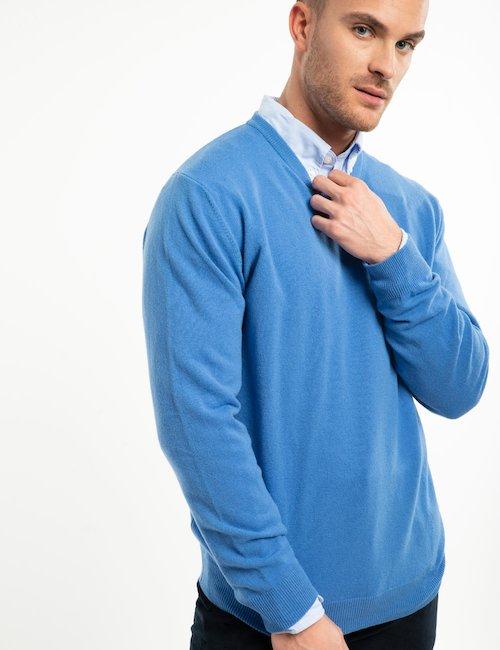 Maglia Gant in lana girocollo - Azzurro