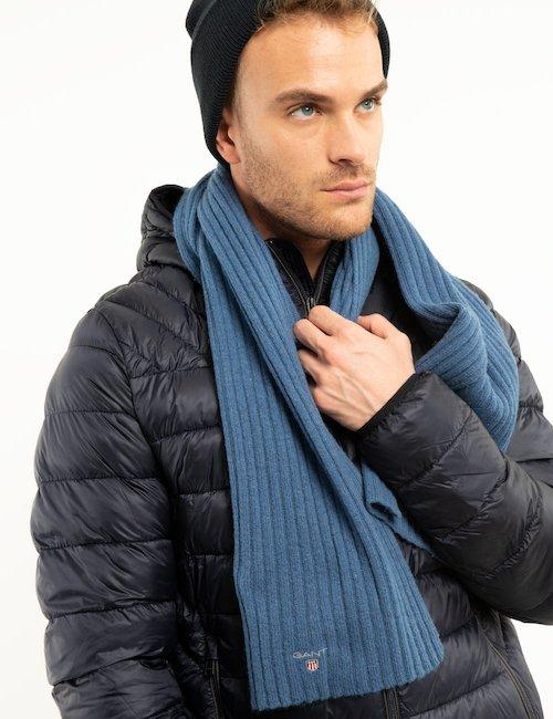 Sciarpa Gant in lana a coste - Blue