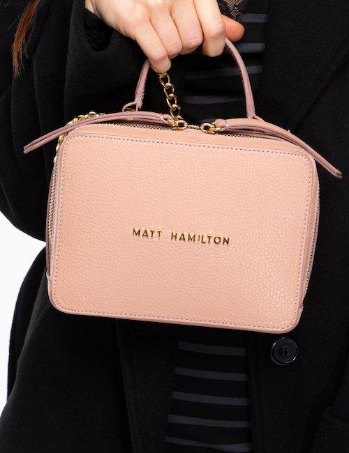 Borsa bauletto Matt Hamilton con tracollina - Pink_Fluo