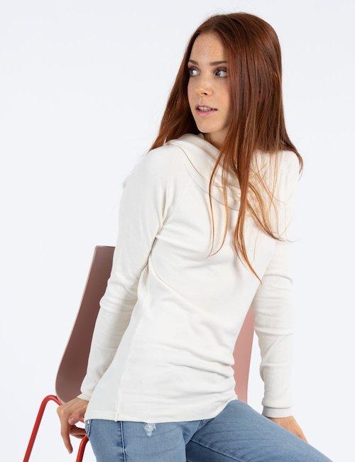 Maglia con drappeggio - Beige