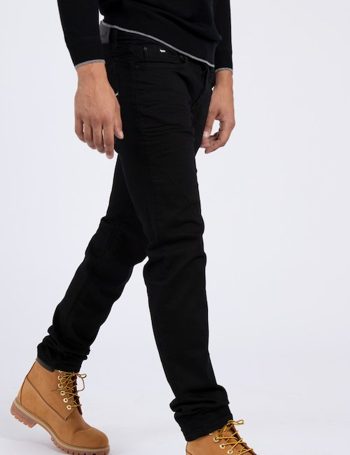 Jeans Gas stretch - Black_Turquoise