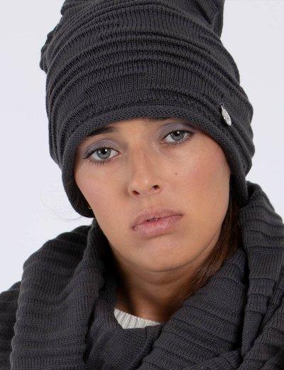 Cappello grigio a cuffietta AW6803 WOL01 sf