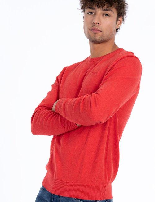 Maglia girocollo basic - Rosso