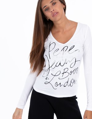 T-shirt Pepe Jeans manica lunga scollo a V