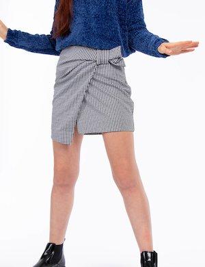 Minigonna  Pepe Jeans pied-de-poule con fiocco