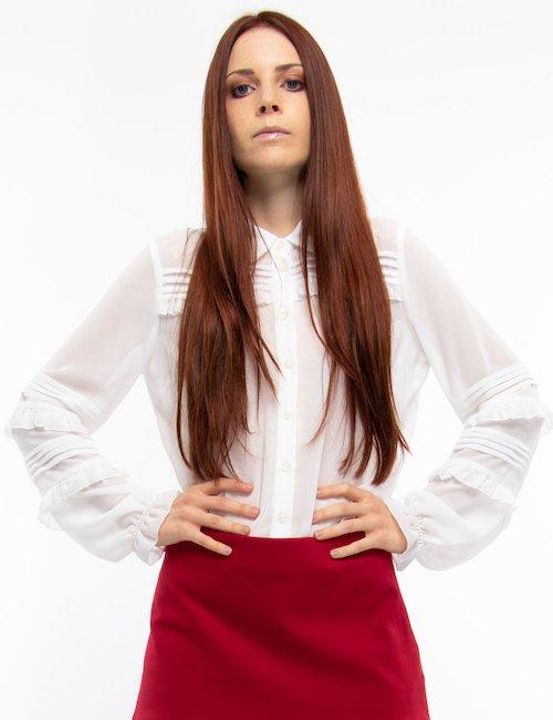 Camicia Liu Jo elegante con ruches - Bianco