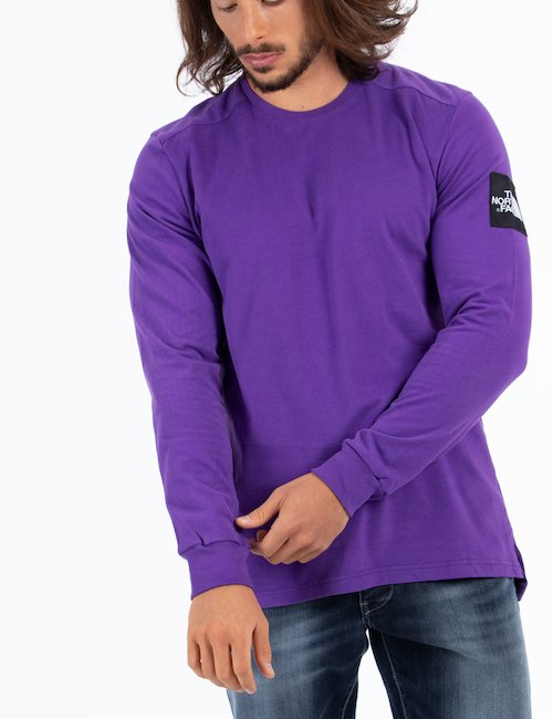 T-shirt The North Face manica lunga - Purple_Yellow