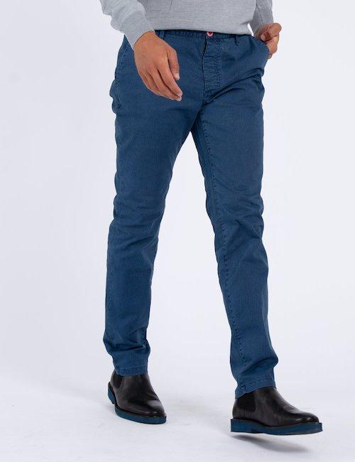 Pantalone Fred Mello micro fantasia - Blue_Pearl