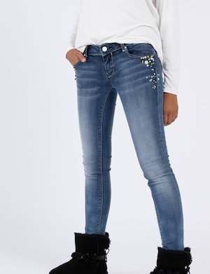 Jeans Fracomina slim con strass