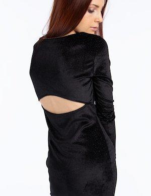 Vestito corto effetto velvet