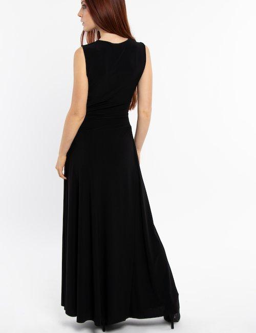 Vestito lungo Vougue smanicato - Nero