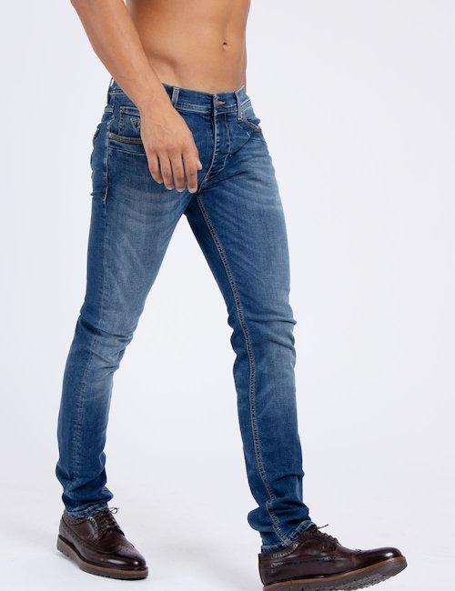 Jeans Fifty Four skinny - Navy_Beige