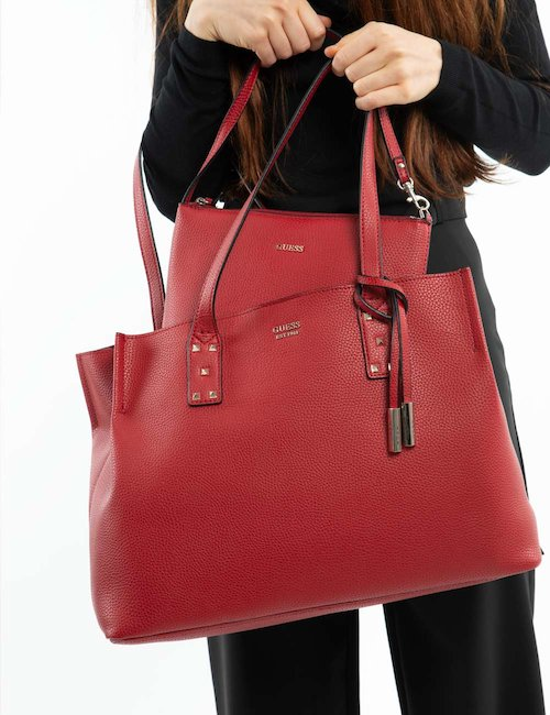 Borsa Guess a mano con borchie - Red_Pink