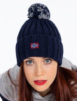 Cappello invernale con pom pom