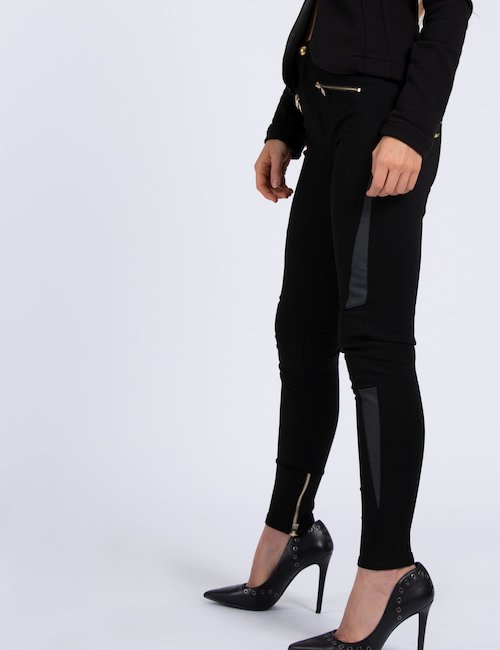 Leggings Imperfect con zip - Black_Bronze