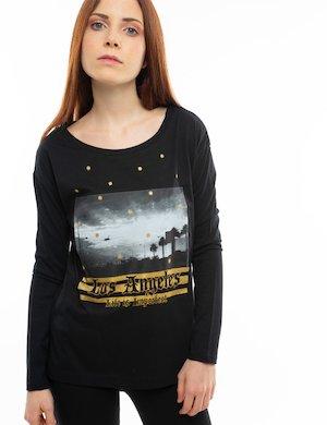 T-shirt Imperfect manica lunga con glitter