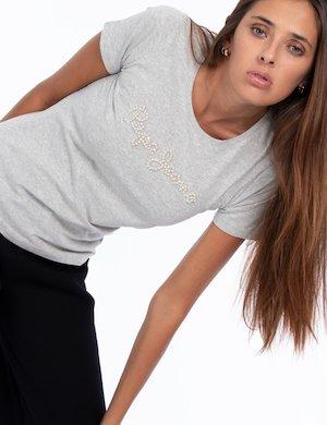 T-shirt Pepe Jeans elasticizzata con scritta