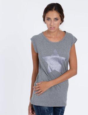 T-shirt Maison Espin con stella e glitter