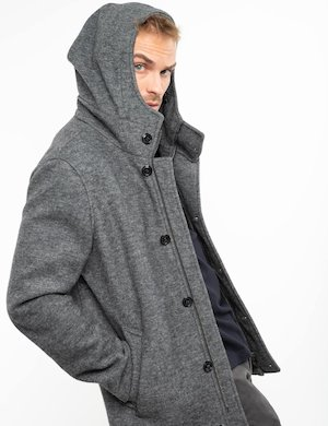 Cappotto Fifty Four con cappuccio