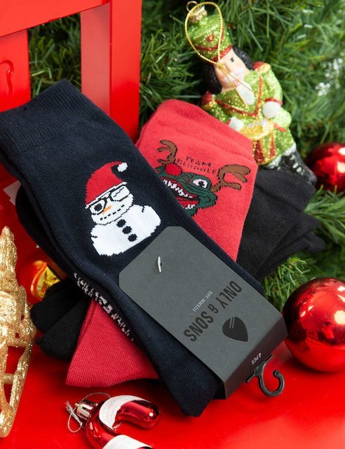 Set 3 calze Only & Sons Natale - Fantasia