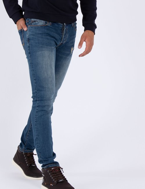 Jeans Yes Zee con strappi - Navy_Beige