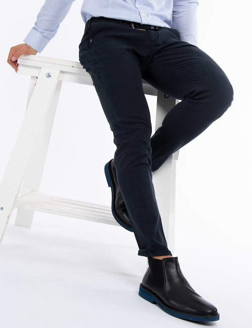Pantalone Yes Zee casual chic - Blue_Pearl