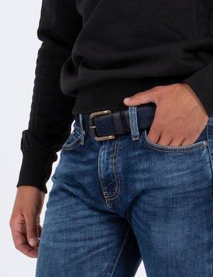 Cintura Napapijri in pelle scamosciata