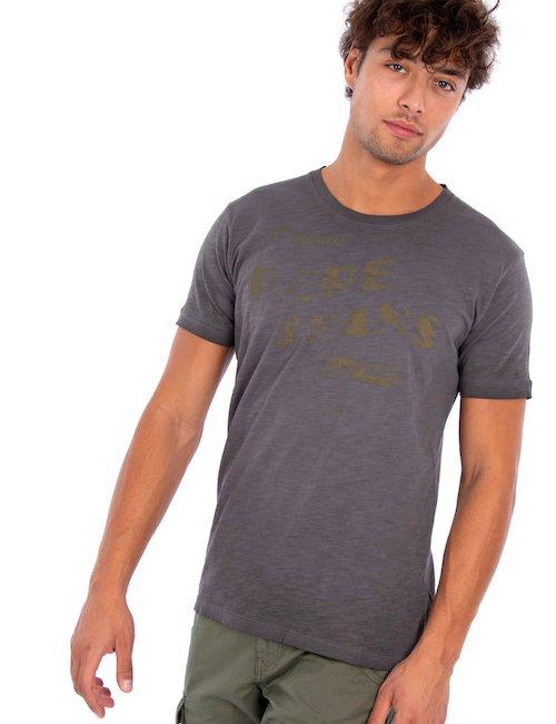 T-shirt con grafica - Grigio