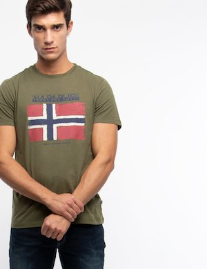 T-shirt Napapijri con stampa