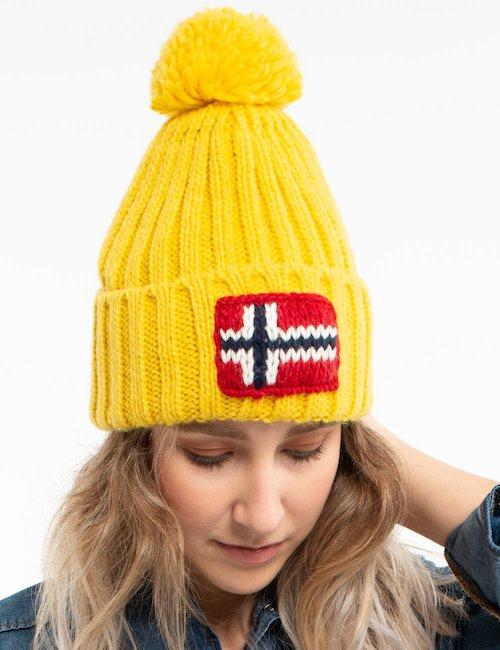 Cappello Napapijri con pom pom - Yellow_White