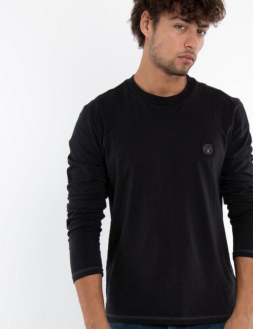 T-shirt Napapijri manica lunga - Nero