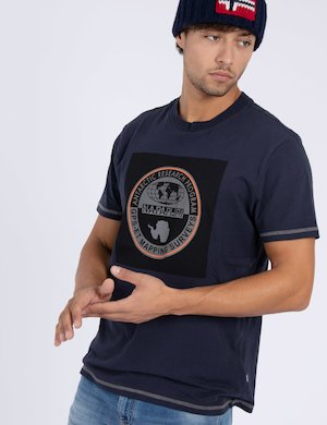 T-shirt Napapijri in cotone con grafica