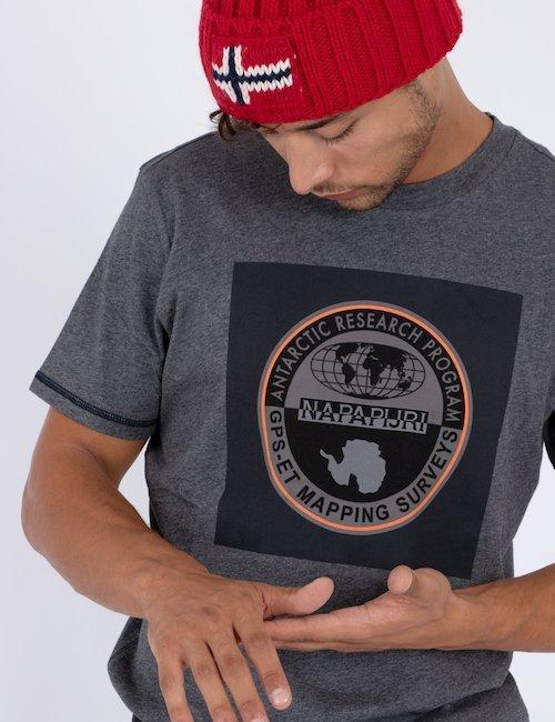 T-shirt Napapijri con grafica - Silver_Black