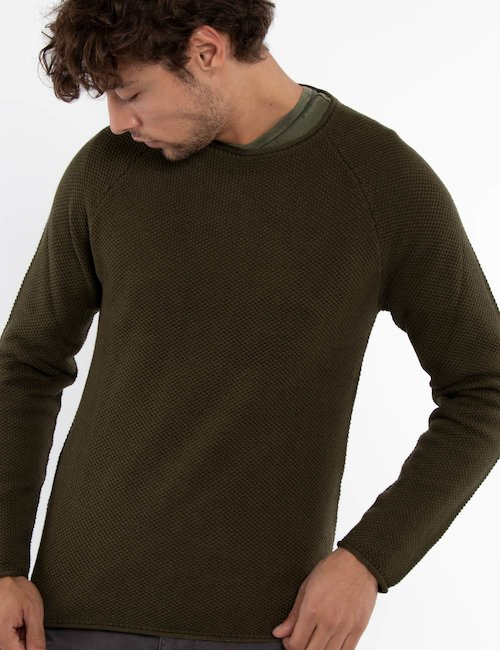 Maglia Smiling London girocollo - Green_Multicolor