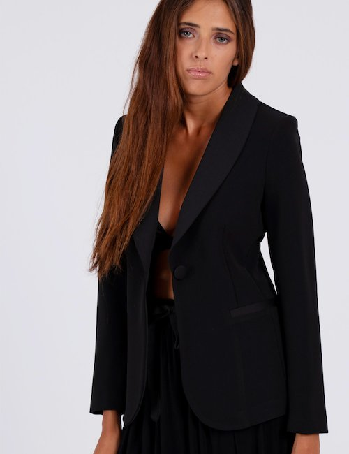 Blazer Vougue  con rever - Black_Bronze