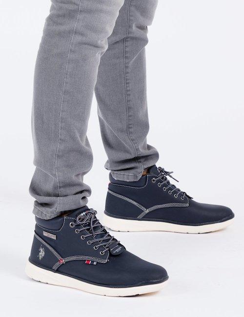 Sneaker alta U.S. Polo - Navy_Beige