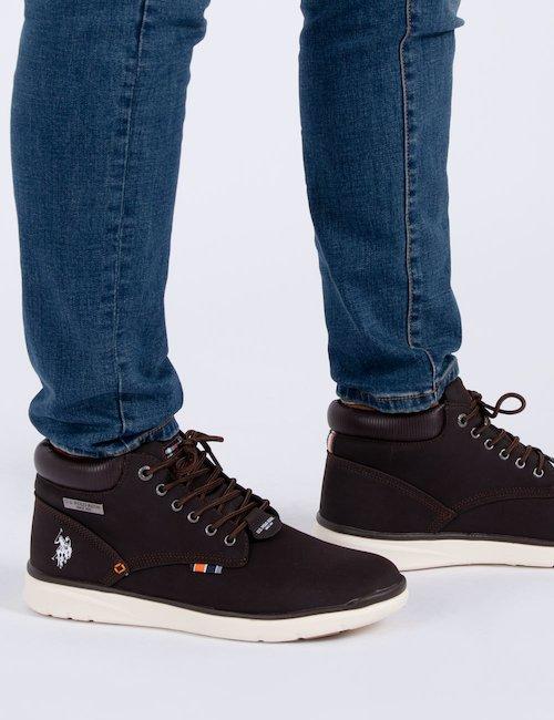 Sneaker alta U.S. Polo - Marrone
