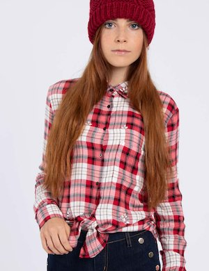 Camicia Guess check rossa