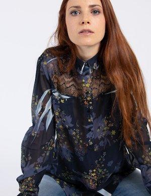 Camicia boho chic con fiori Cod. art. W74H96 W70Q0 sf