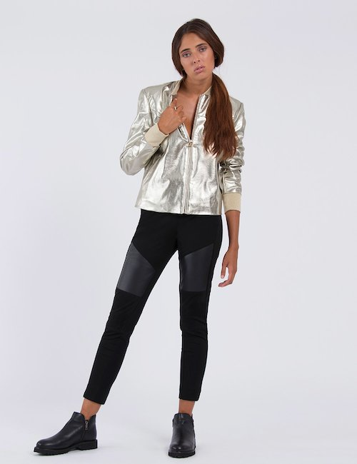 Giacca Guess bomber oro-argento - gold-silver