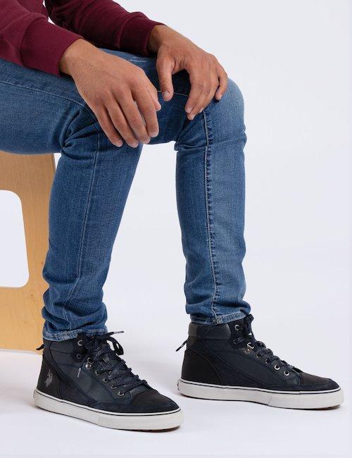 Sneaker in pelle U.S. Polo - Blu
