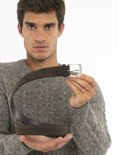 Cintura Gant in pelle - Marrone