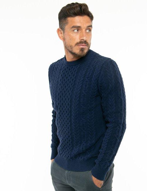Maglione Gant lavorazione intrecciata - Blu